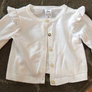 White baby cardigan !
